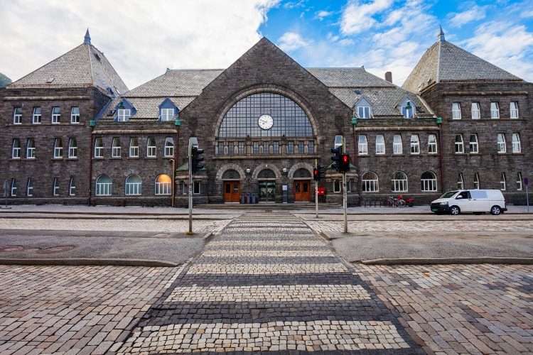 Bergen central railway station, Norway