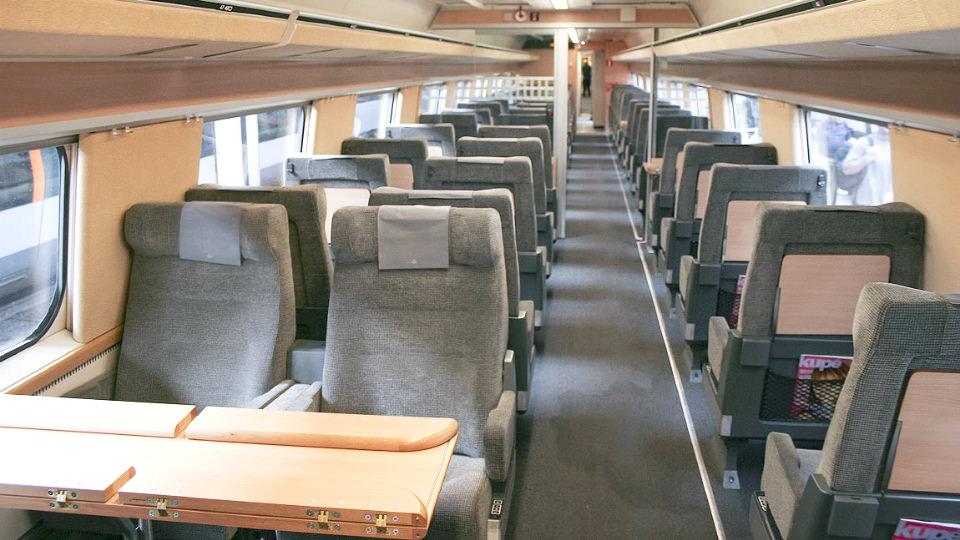 Economy class onboard SJ high-speed train